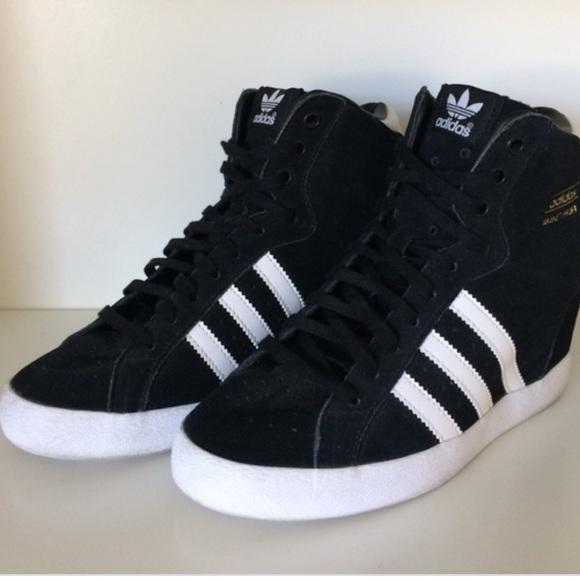 Adidas Basket Profi Up Wedge sneakers in Black